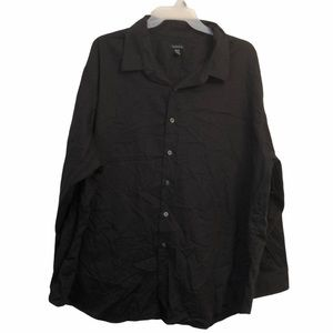 Van-Heusen 4X  21-21 1/2 button down black shirt